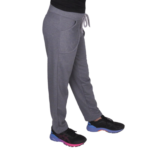 Dark Grey Fleece Lower With Pockets