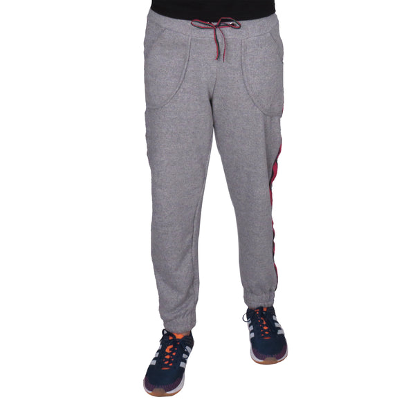 Dark Speckled Grey Knitted Joggers With Pockets