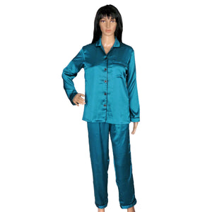 blue satin sleepwear online for women