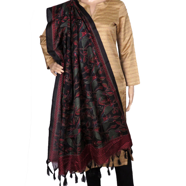 silk-dupatta-in-black