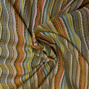 Textured Striped Summery Cotton Fabric