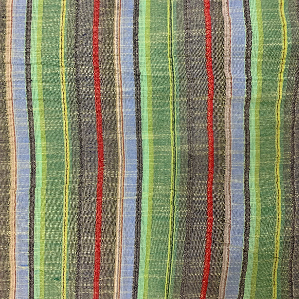 Tropical Striped Cotton Fabric