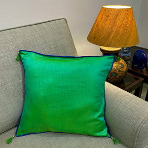 Emerald Green Silk Cushion Cover