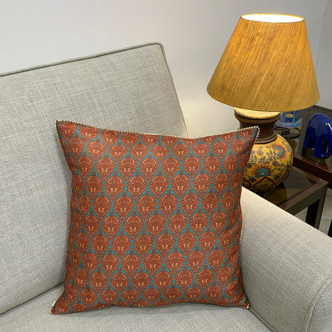 Tussar Silk Printed Cushion Cover