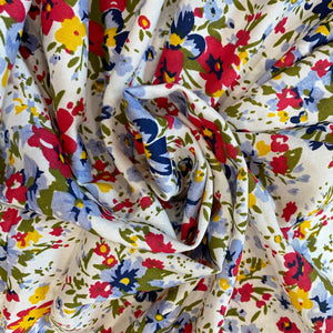 Small Floral Print Cotton Fabric