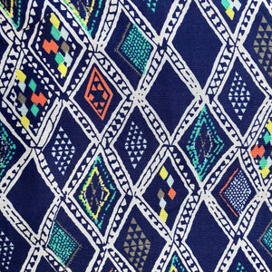 Printed Blue Soft Rayon Fabric