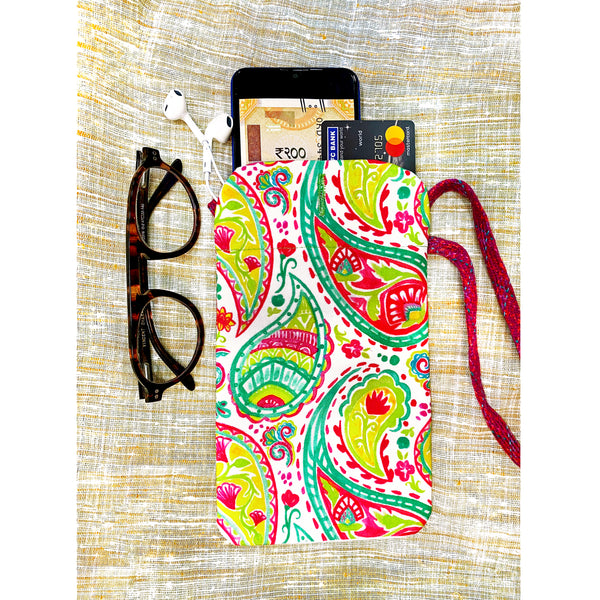 Light Paisleys Utility Pouch
