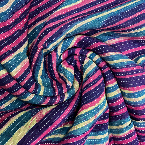 Colourful Thin Stripes Cotton Fabric