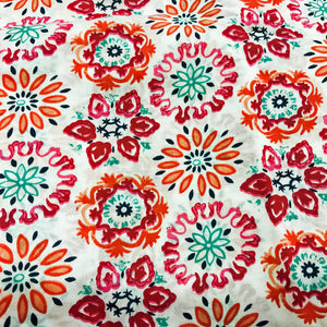 Summery Floral Printed Cotton Fabric