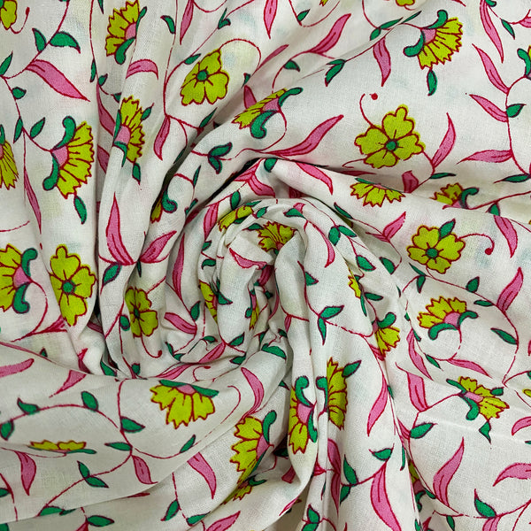 Gardenia Premium Cotton Fabric