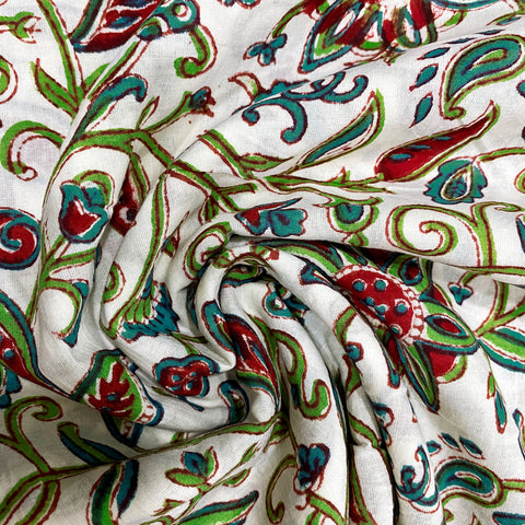 Print Kalamkari Print Cotton Fabric