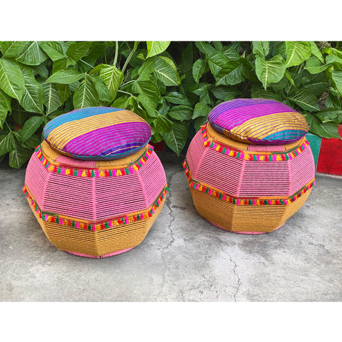 Pink Salt Vibrant Cushy Seats (Twin Set)