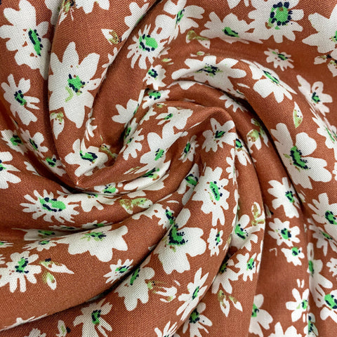 Valley Of Flowers Rayon Fabric