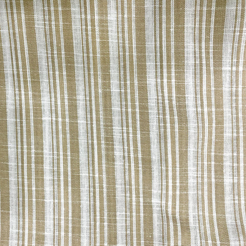 Brown Striped Cotton Fabric