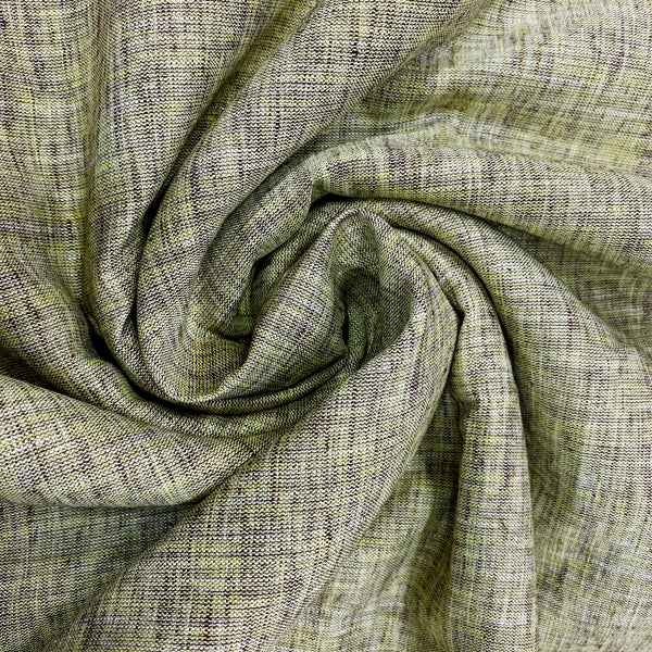 Classic Linen Fabric With Green Undertone
