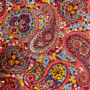 Crinkled Cotton Paisley Print Fabric
