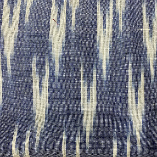 Blue & White Ikat Cotton Fabric