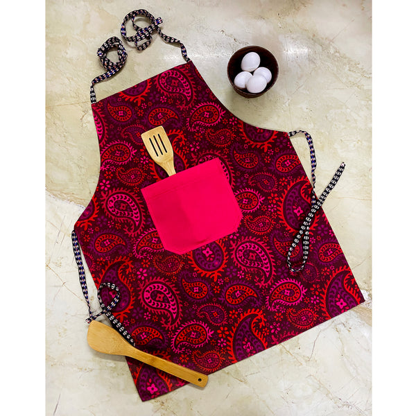 red-apron-with-pocket