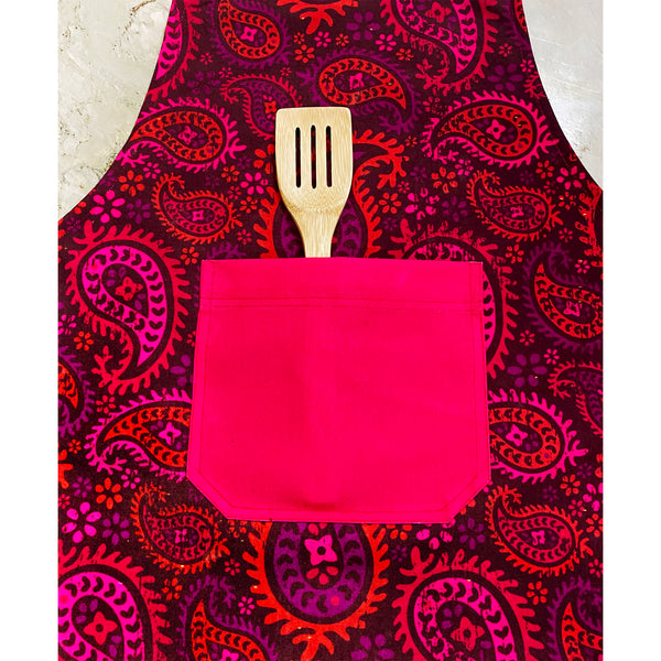 Red Paisleys Apron