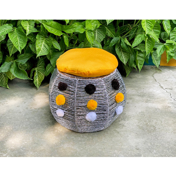 Genda Phool Bamboo Seat (Single Piece)