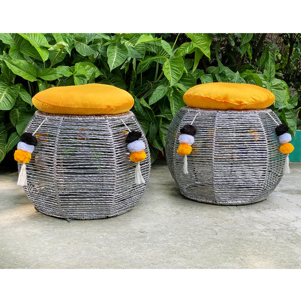 bamboo sitting stool