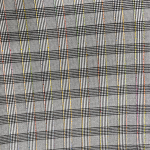 Black & White Checks Rayon Fabric