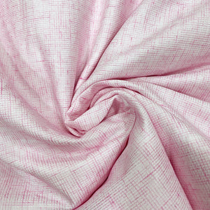 Powder Pink Textured Cotton Fabric