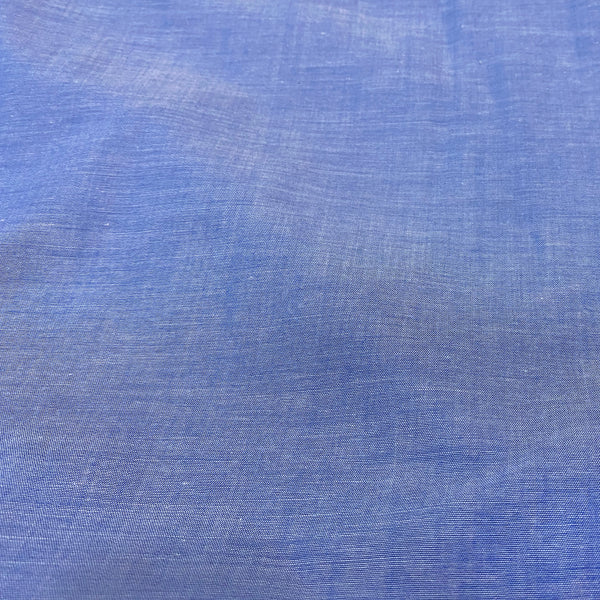 Plain Blue Cotton Fabric