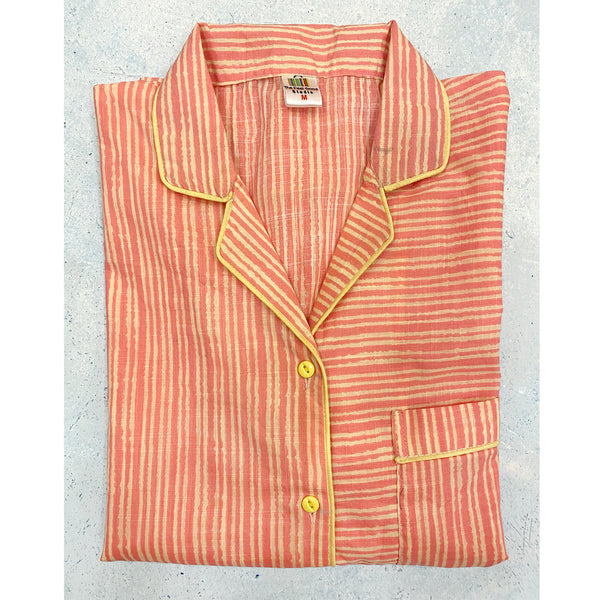 orange-striped-cotton-night-suit-with -pajamas-for-women