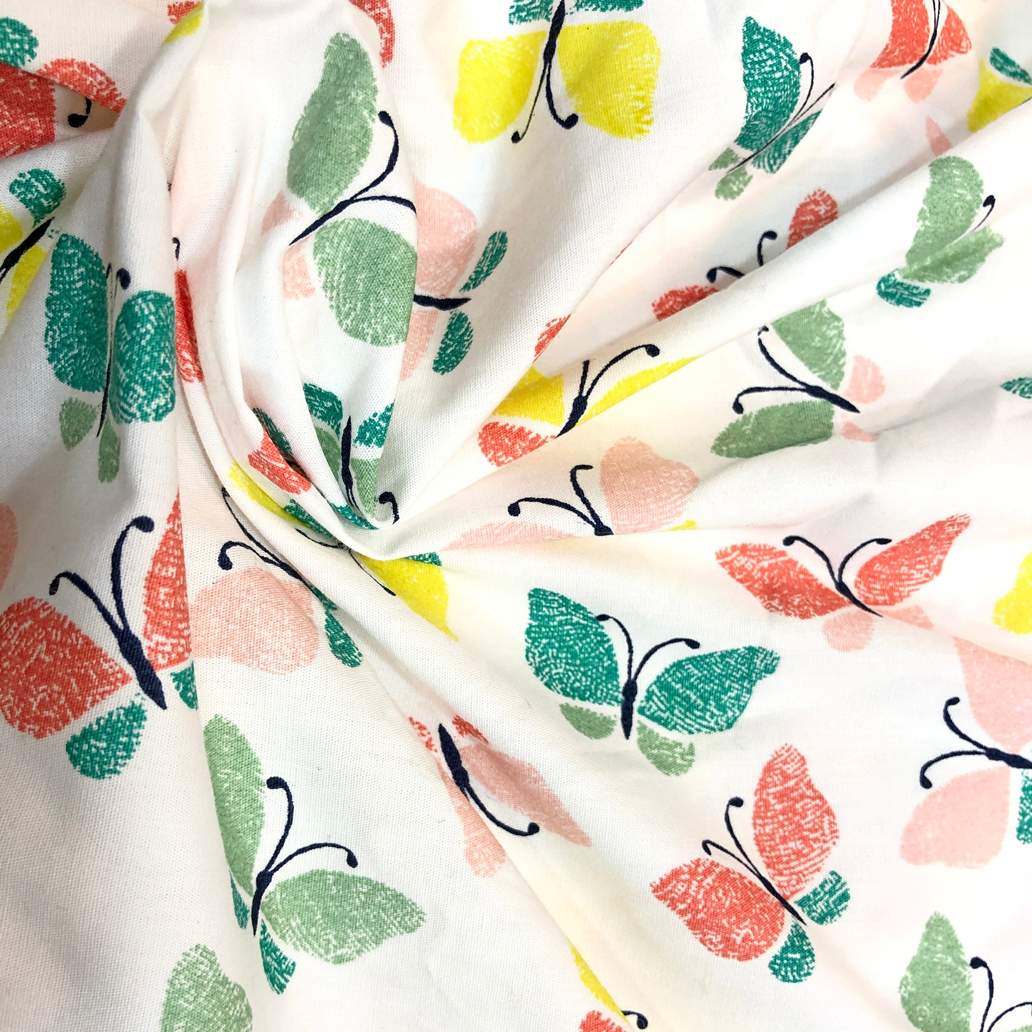 colourrful-butterfly-printed-cotton-fabric-online-india-at-cheap rates