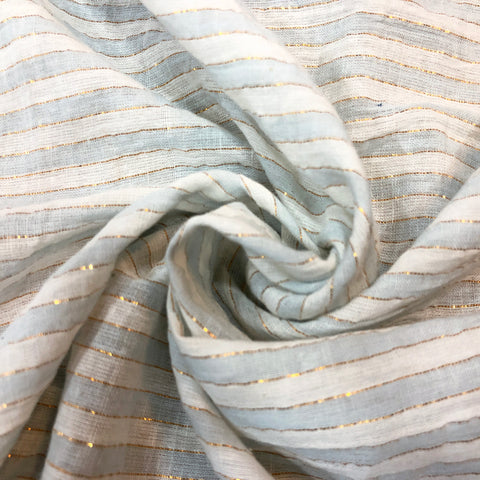 Striped Sheer Cotton Fabric