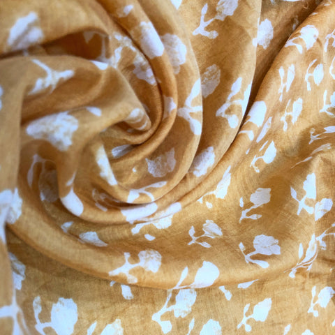 mustard yellow cotton silk fabric
