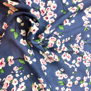 Spring Flowers Cotton Print Fabric