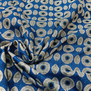 Trippy Blue Circular Print Fabric