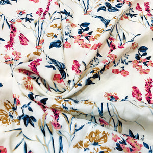 Summer Floral Rayon Print Fabric