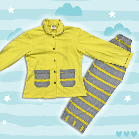 Sunny Yellow Girls Night Suit