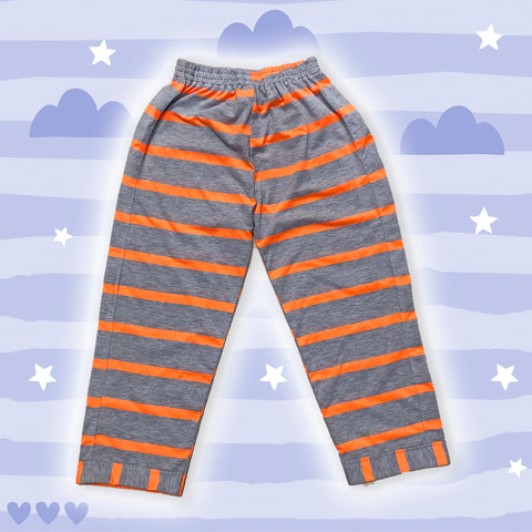Orange Striped Cotton Lower