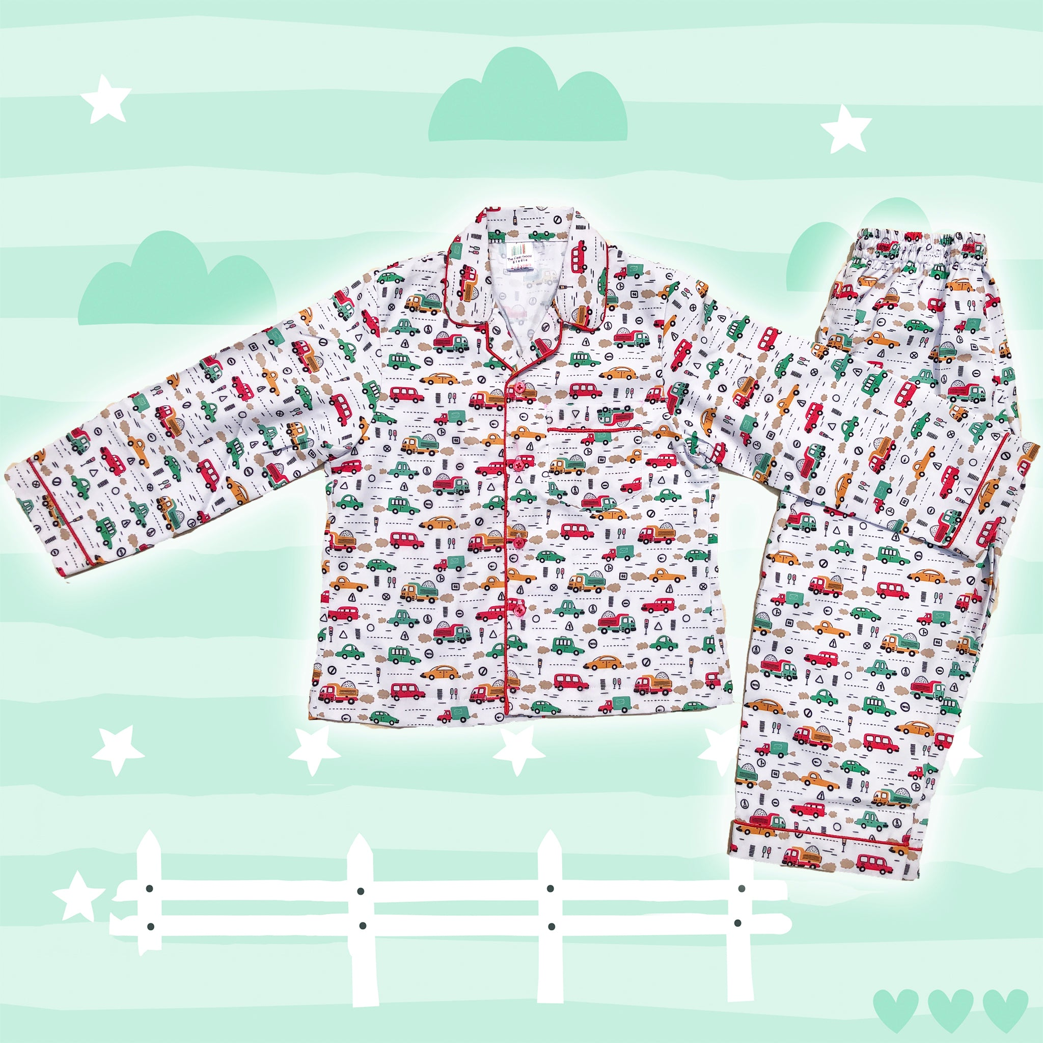 Love Cars Boys Night Suit