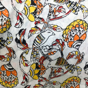bird-print-pure-khadi-fabric-online-India