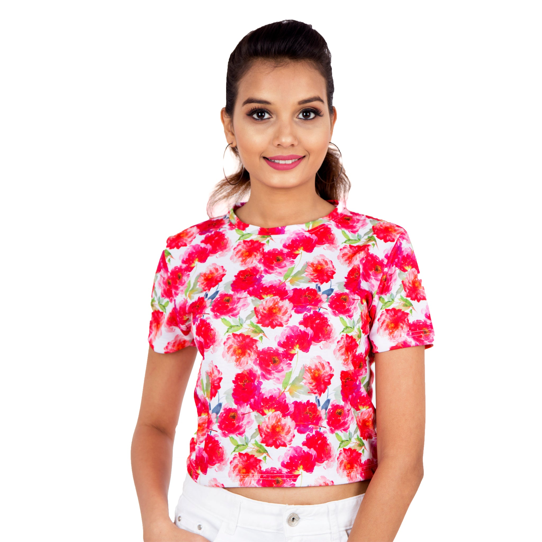 Colourful Bloom Crop Top