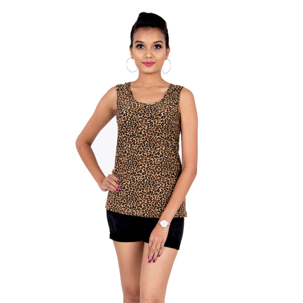 Leopard Woman Tank Top