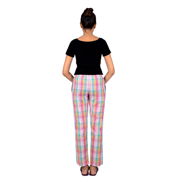 Classic Checkered Pajamas With Pockets
