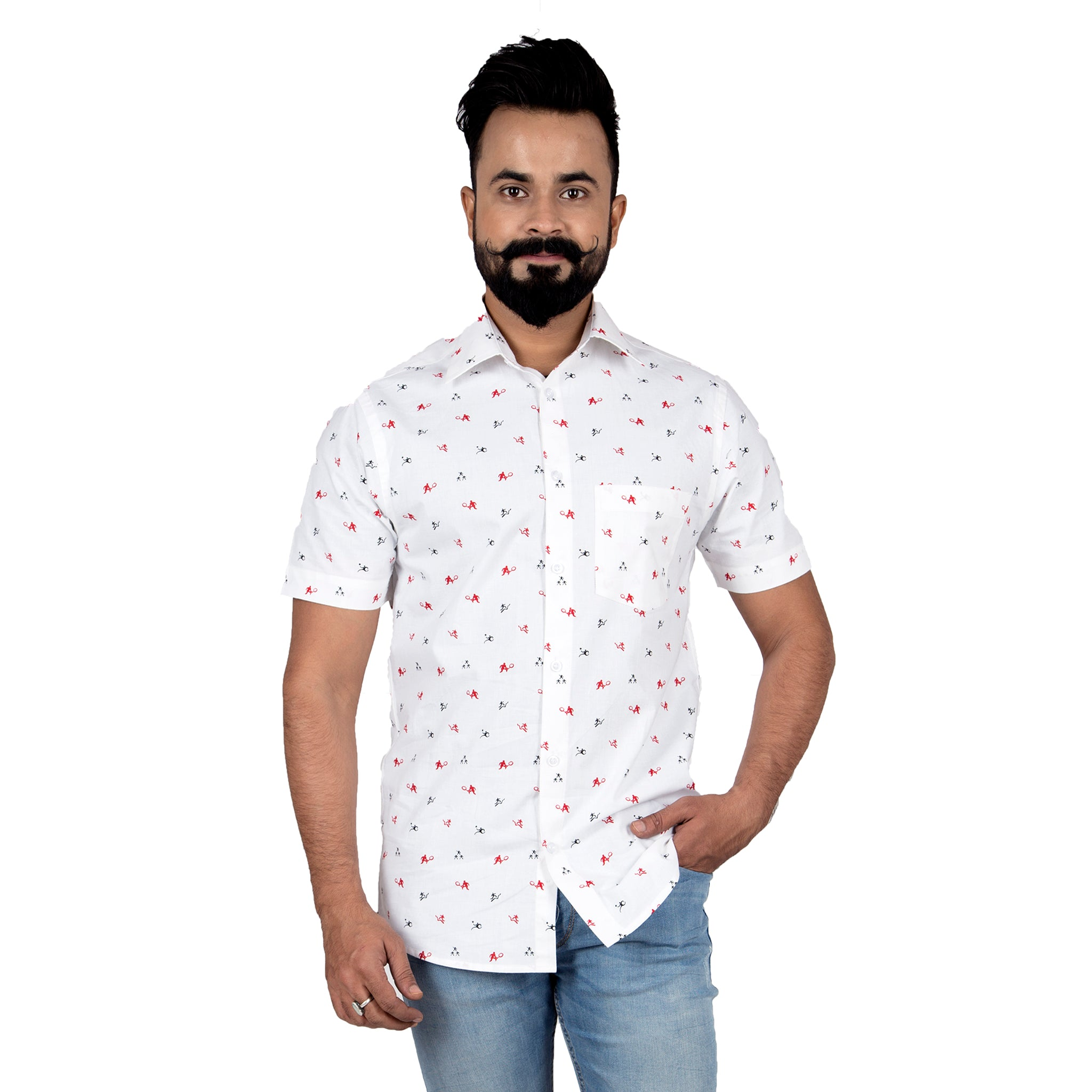 Sports Print Mens Shirt The Feel Good Studio