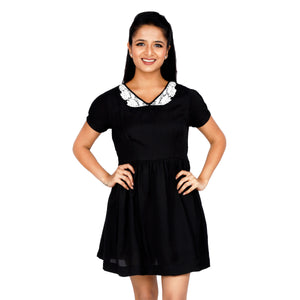 The Little Black Dress With Baby Doll Collar
