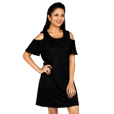 Noir Cold Shoulder Dress