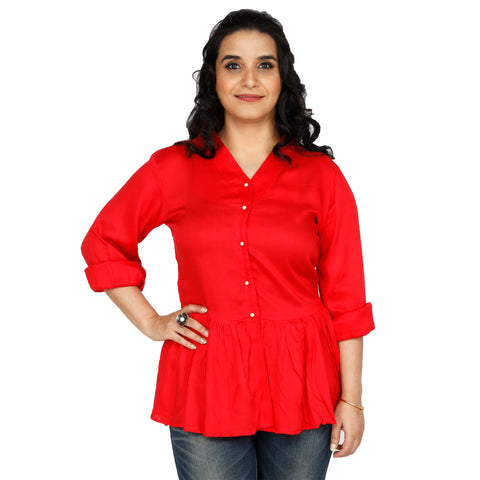 women's-red-peplum-top-online-india