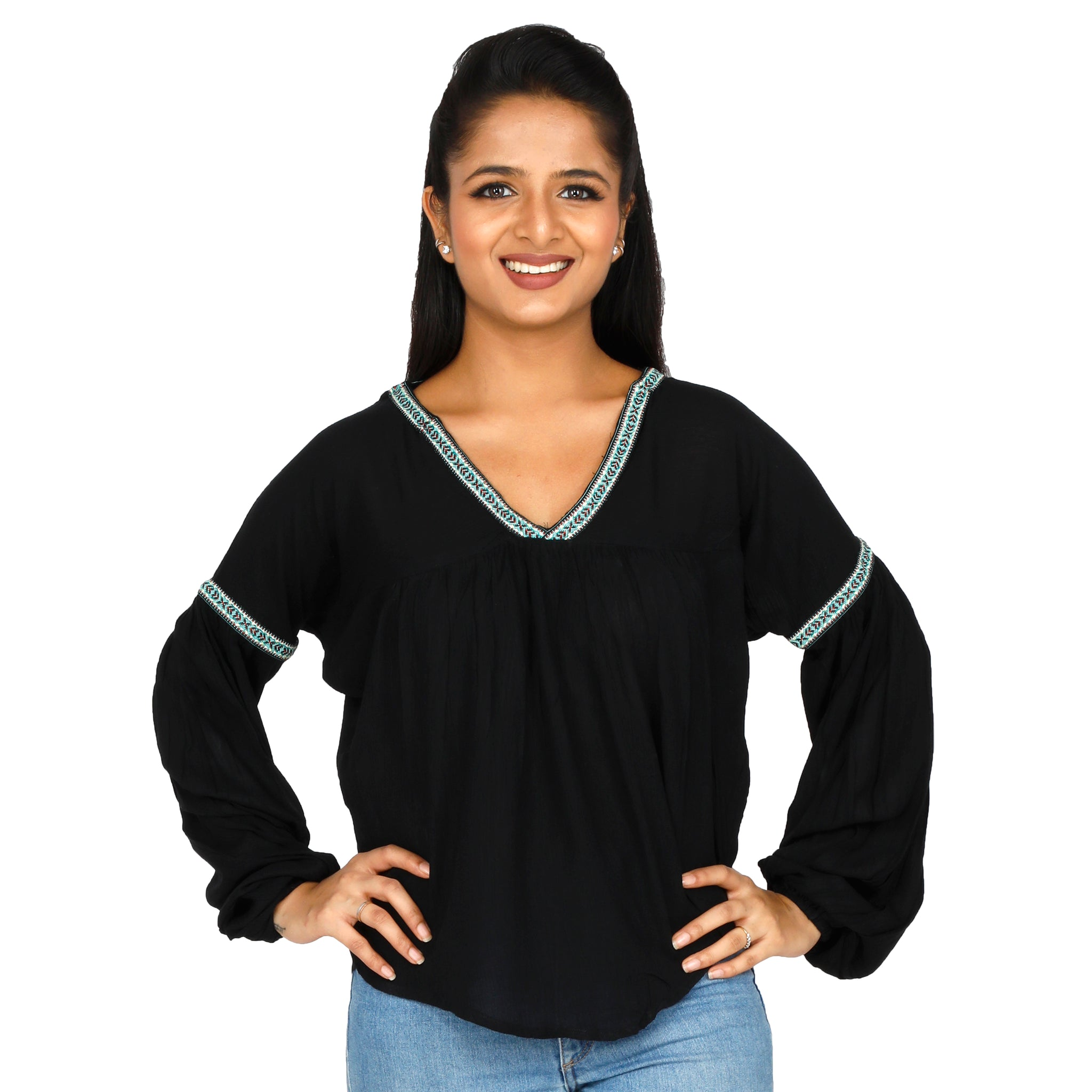 elegant-black-top-for-women-online-india