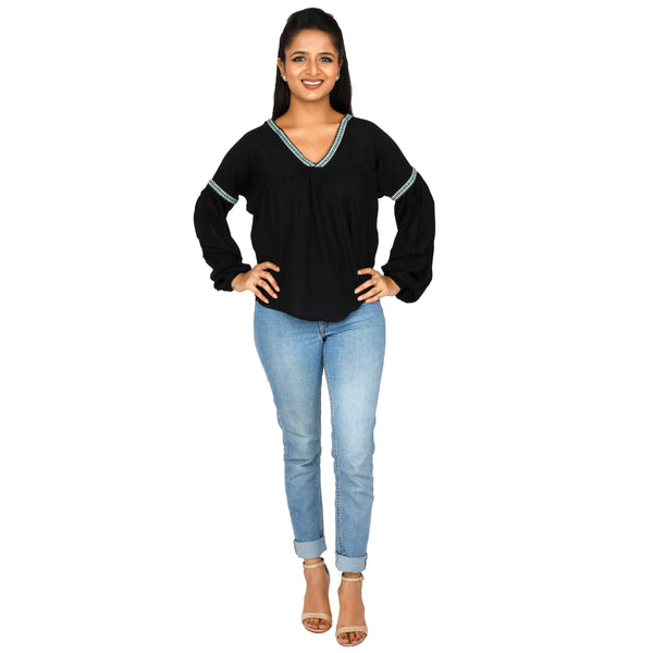 women's-formal-black-top-online