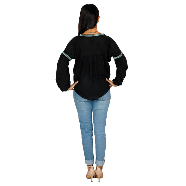 women's-classy-black-top-for-office-wear-india