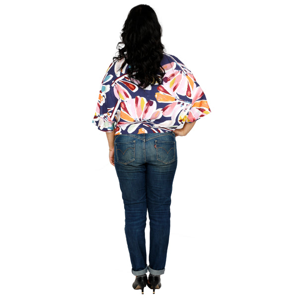 Floral Butterfly Cut Shirt